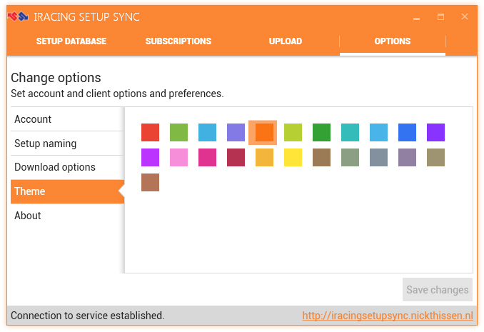 Supports various theme colors for some customization of the interface.